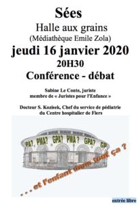 conférence SEES PMA GPA Orne janvier 2020