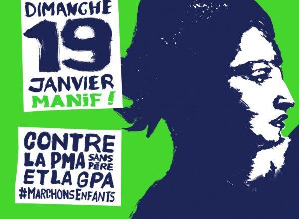 Manifestation du 19 Janvier 2020 contre le projet de loi «Bioéthique»